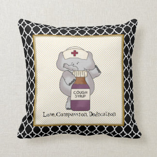 love compassion dedication nurse throw pillow