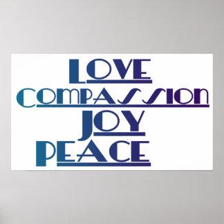 Love, Compassion, Joy, Peace Print