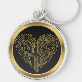 Love Computer Motherboard Heart  Keychain