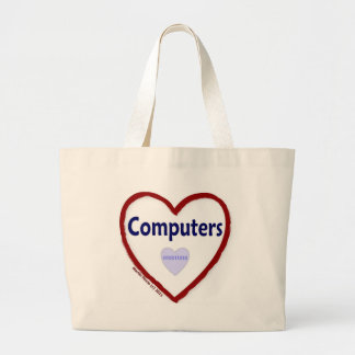 Love Computers Tote Bags