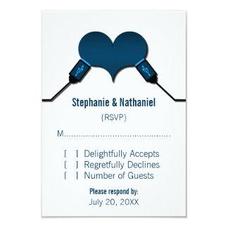 Love Connection USB Response Card, Blue Custom Invite
