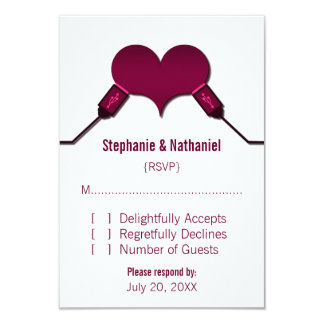 Love Connection USB Response Card, Fuchsia Personalized Announcement