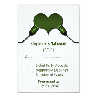 Love Connection USB Response Card, Green Personalized Invite