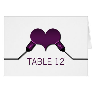 Love Connection USB Table Card, Purple Greeting Card