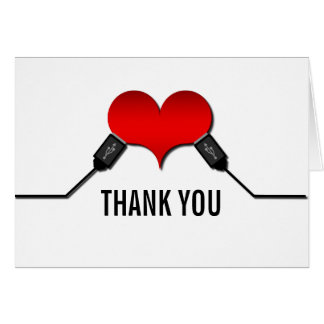 Love Connection USB Thank You Card, Red
