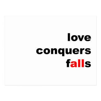 Love Conquers Falls Postcard