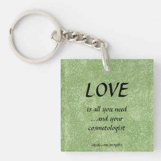 Love Cosmetologist Acrylic Key Chain