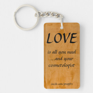 Love Cosmetologist Acrylic Keychains