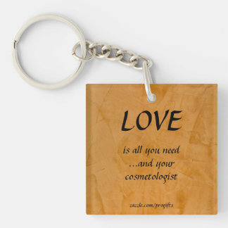 Love Cosmetologist Acrylic Keychains
