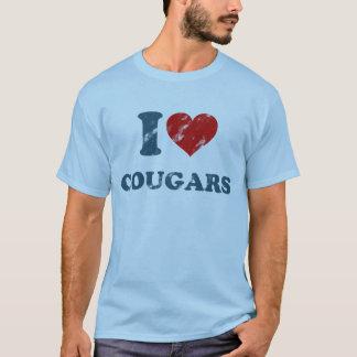 Love Cougars Vintage T-Shirt