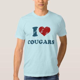 Love Cougars Vintage Tshirt
