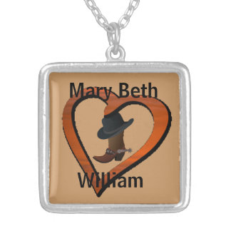 LOVE Country Boot & COWBOY Hat NECKLACE