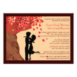 Love Couple Falling Hearts Oak Tree Couples Shower
