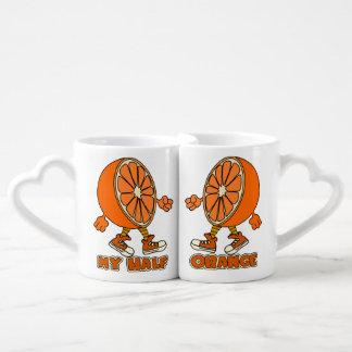 love,couple,marriage,MY HALF ORANGE Lovers Mug