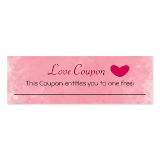 Love Coupon Business Cards