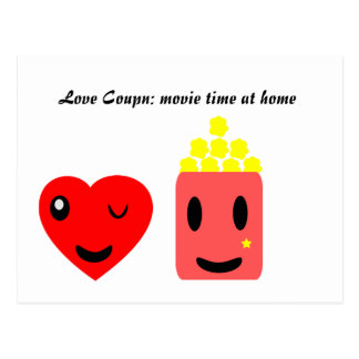 Love Coupon: movie time at home Postcard