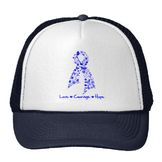 Love Courage Hope Butterfly -  Anal Cancer Cap