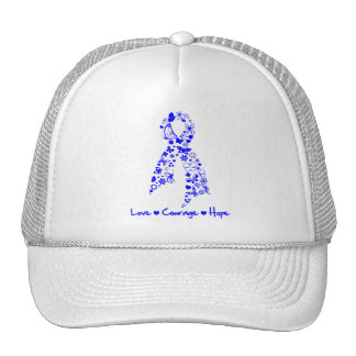 Love Courage Hope Butterfly - Anal Cancer Trucker Hats