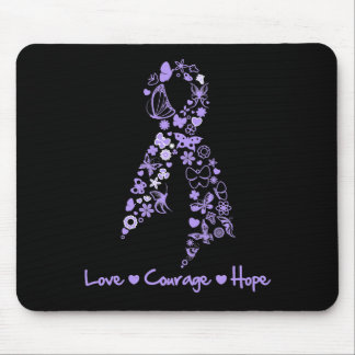 Love Courage Hope Butterfly - General Cancer Mouse Pad