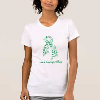 Love Courage Hope Butterfly -  Liver Cancer Tshirts