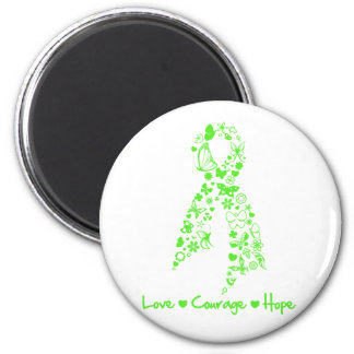 Love Courage Hope Butterfly - Non-Hodgkins Lymphom Refrigerator Magnet