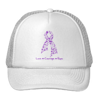 Love Courage Hope Butterfly - Pancreatic Cancer Cap