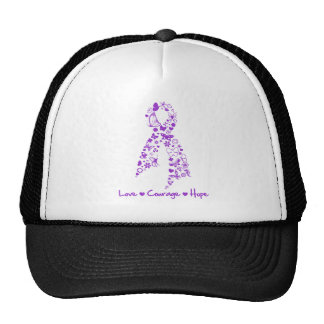 Love Courage Hope Butterfly - Pancreatic Cancer Hats
