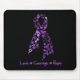 Love Courage Hope Butterfly - Pancreatic Cancer Mouse Pads