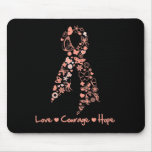 Love Courage Hope Butterfly - Uterine Cancer