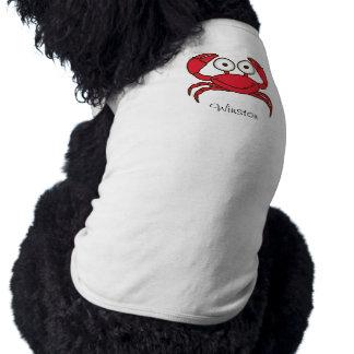 Love Crab Doggie Ribbed Tank Top Sleeveless Dog Shirt