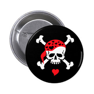 Love & Crossbones 6 Cm Round Badge