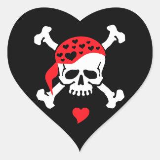 Love & Crossbones Heart Sticker