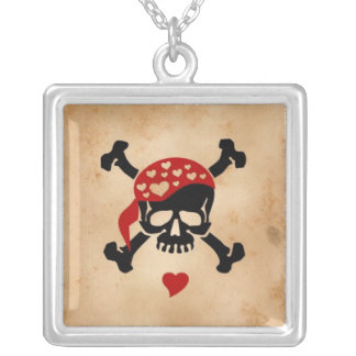 Love & Crossbones Personalized Necklace