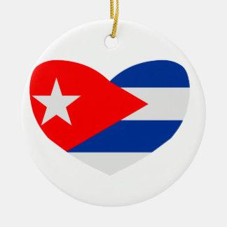 Love Cuba Christmas Ornament