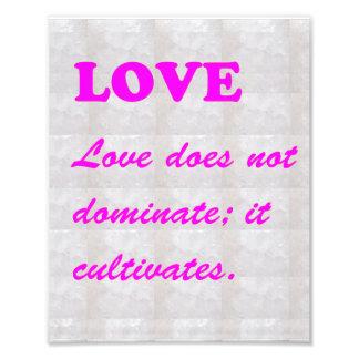 LOVE Cultivates : Words Wisdom Pink by NAVIN JOSHI Art Photo