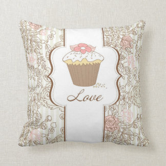 Love Cupcakes Fun Graphic Design Cushion