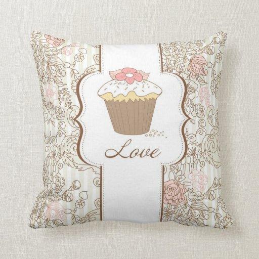 Love Cupcakes Fun Graphic Design Pillows