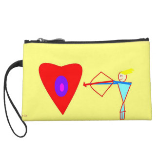 Love Cupid! Stay Peaceful! Wristlet Clutch