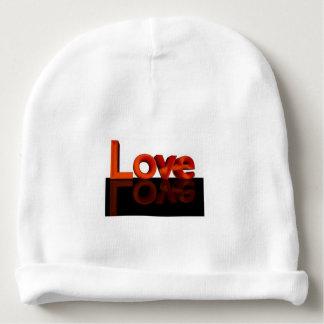 Love, Custom Baby Cotton Beanie Baby Beanie
