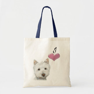 Love Cute Westie Dog Art with 3D Heart