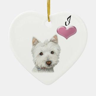 Love Cute Westie Dog Ornament