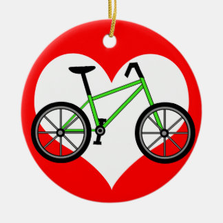 Love Cycling Christmas Ornament