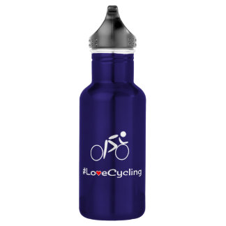 Love cycling slogan cyclist 532 ml water bottle