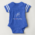 Love Cycling slogan cyclist baby Baby Bodysuit