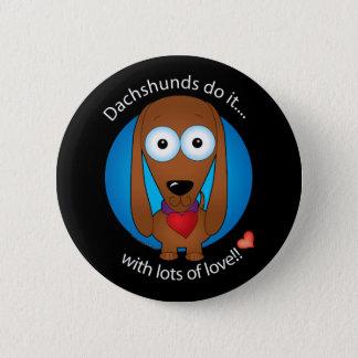 Love Dachshund 1 6 Cm Round Badge
