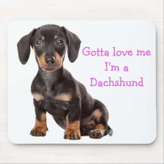 Love Dachshund Puppy Dog Computer Mousepad
