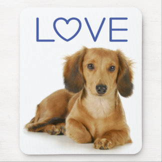 Love Dachshund Puppy Dog Computer Mousepad