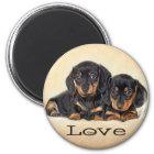 Love Dachshund Puppy Dog Fridge Magnet