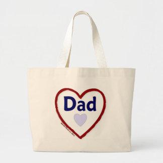 Love Dad Jumbo Tote Bag