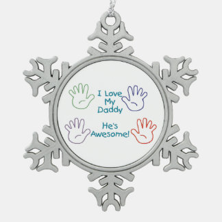 Love Daddy - Hands Ornament
